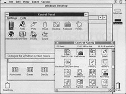 Insignia Solutions' Soft Windows for the Power Macintosh lets you run DOS and Windows software simultaneously with Mac software, in a separate window. You can transfer data between programs via the Mac clipboard.